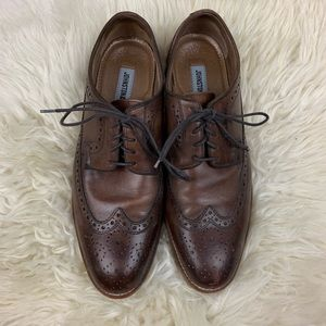 Johnston&Murphy Mens Wingtip Brown Leather Shoe S9